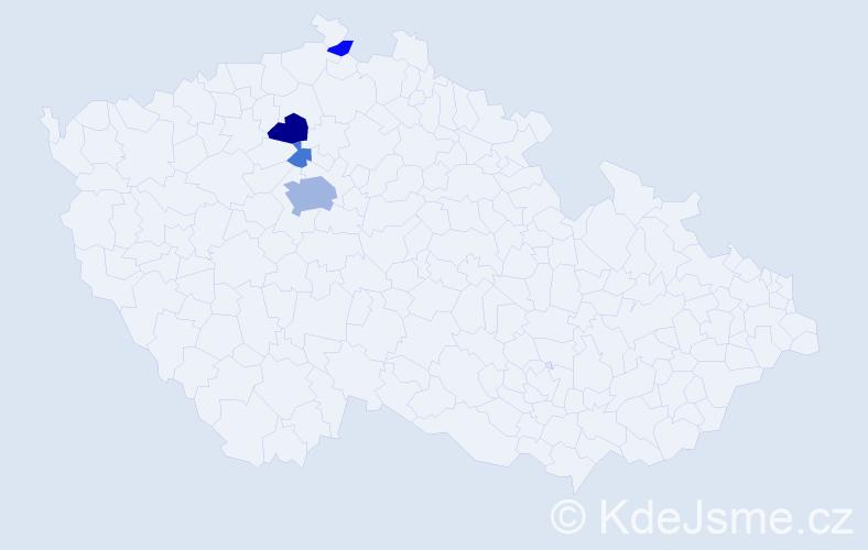 Příjmení: 'Kaclík', počet výskytů 11 v celé ČR