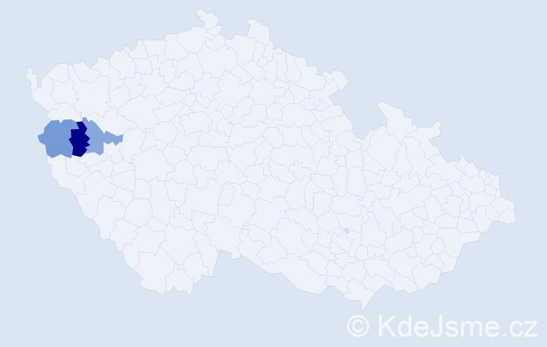 Příjmení: 'Dobrsteinová', počet výskytů 7 v celé ČR