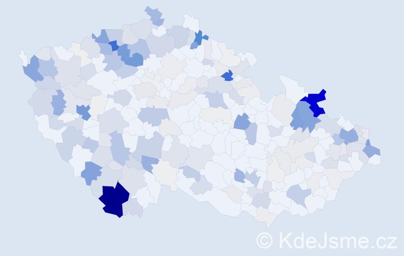 Příjmení: 'Kotlár', počet výskytů 1227 v celé ČR