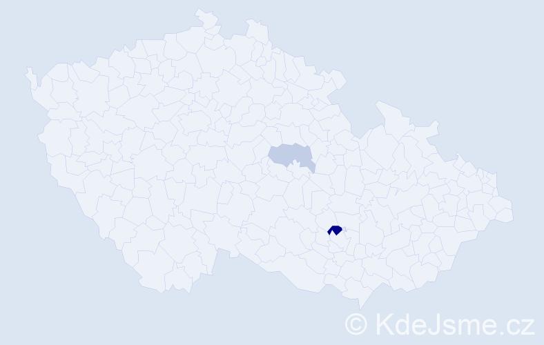 Příjmení: 'Guĺkášová', počet výskytů 4 v celé ČR