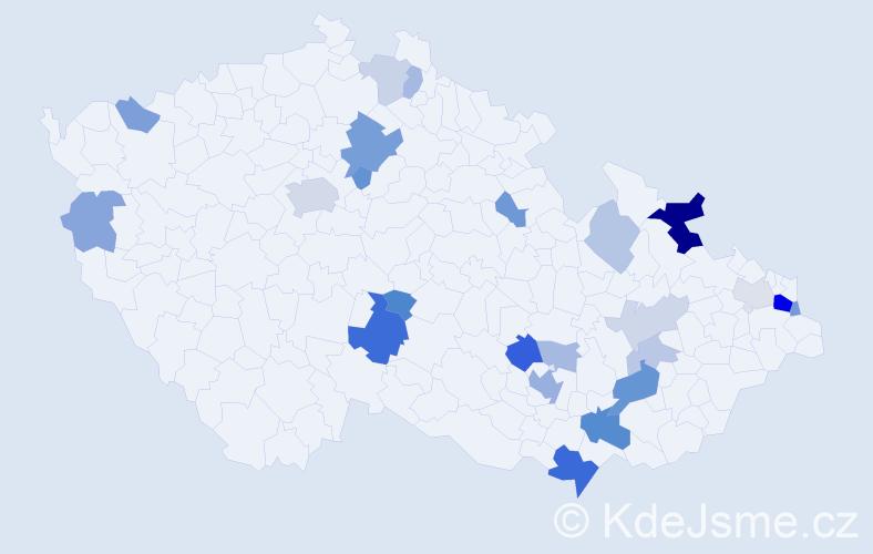 Příjmení: 'Goldman', počet výskytů 54 v celé ČR