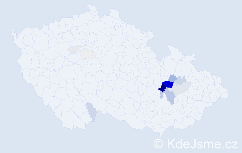 Příjmení: 'Labonková', počet výskytů 31 v celé ČR