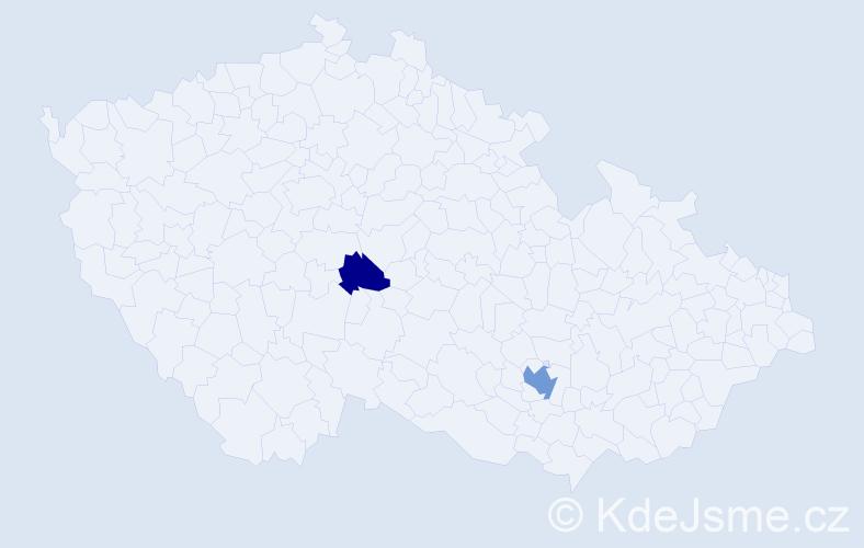 Příjmení: 'Ercolani', počet výskytů 4 v celé ČR
