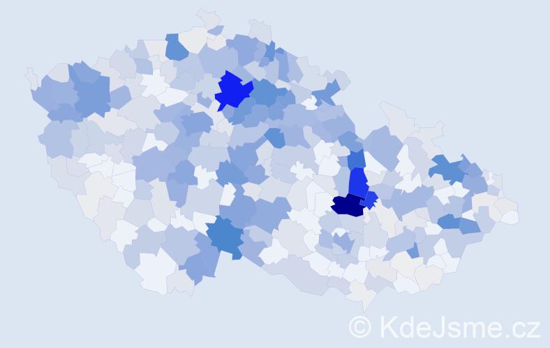 Příjmení: 'Kubín', počet výskytů 1842 v celé ČR