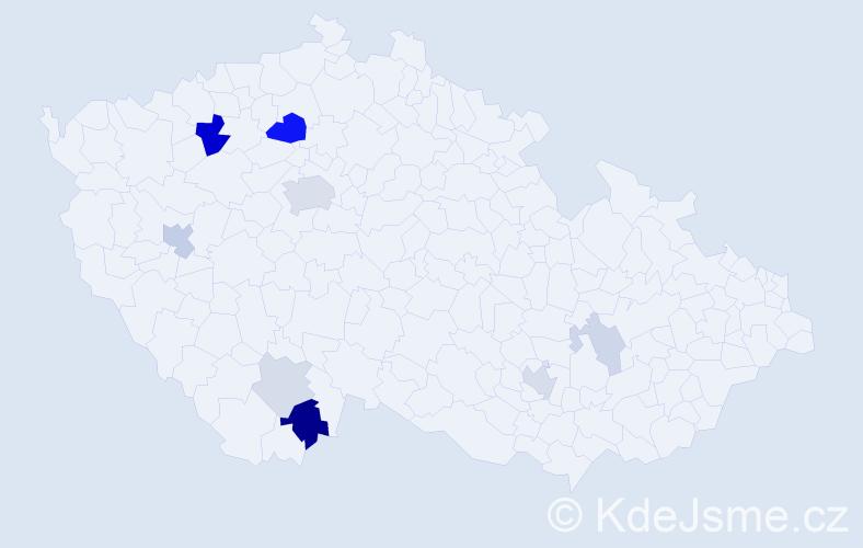 Příjmení: 'Elias', počet výskytů 23 v celé ČR