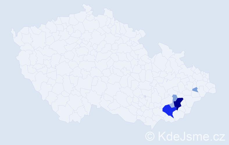 Příjmení: 'Družbík', počet výskytů 28 v celé ČR
