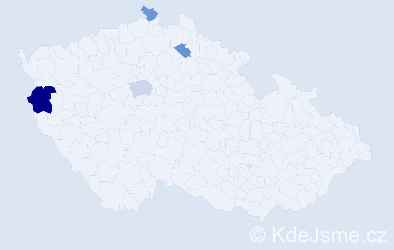 Příjmení: 'Csikós', počet výskytů 9 v celé ČR