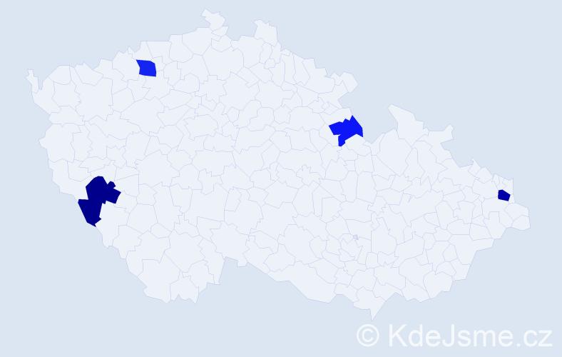 Příjmení: 'Ivicová', počet výskytů 10 v celé ČR