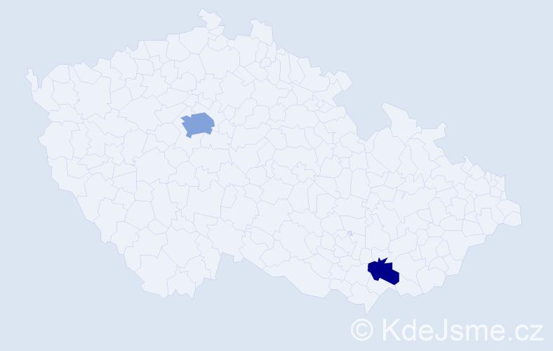 Příjmení: 'Evanson', počet výskytů 4 v celé ČR