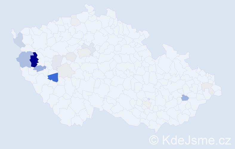 Příjmení: 'Jamrišková', počet výskytů 44 v celé ČR