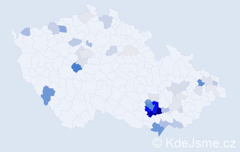 Příjmení: 'Jochman', počet výskytů 179 v celé ČR