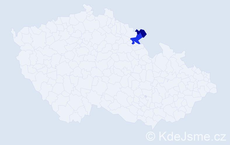 Příjmení: 'Gorgan', počet výskytů 7 v celé ČR