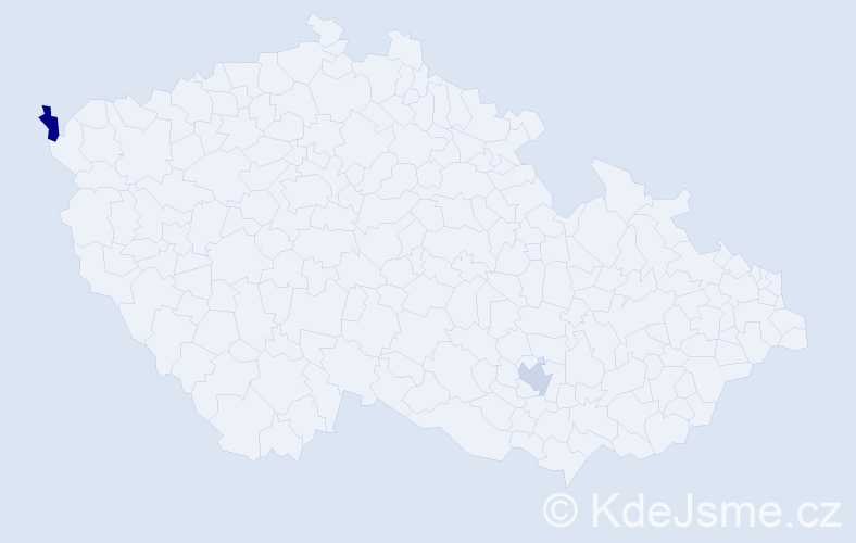 Příjmení: 'Alber', počet výskytů 2 v celé ČR