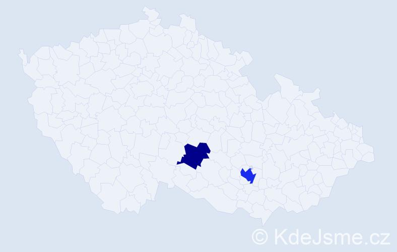 Příjmení: 'Makeľová', počet výskytů 3 v celé ČR