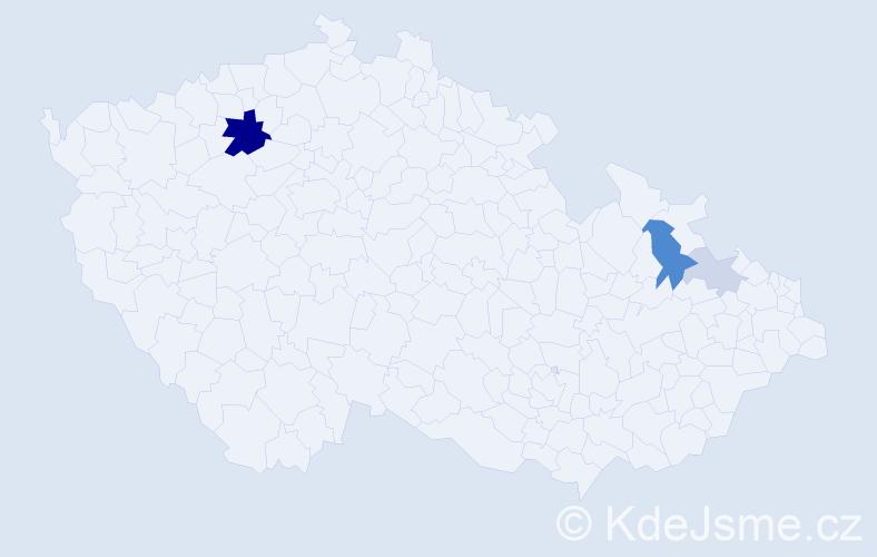 Příjmení: 'Dandelová', počet výskytů 11 v celé ČR