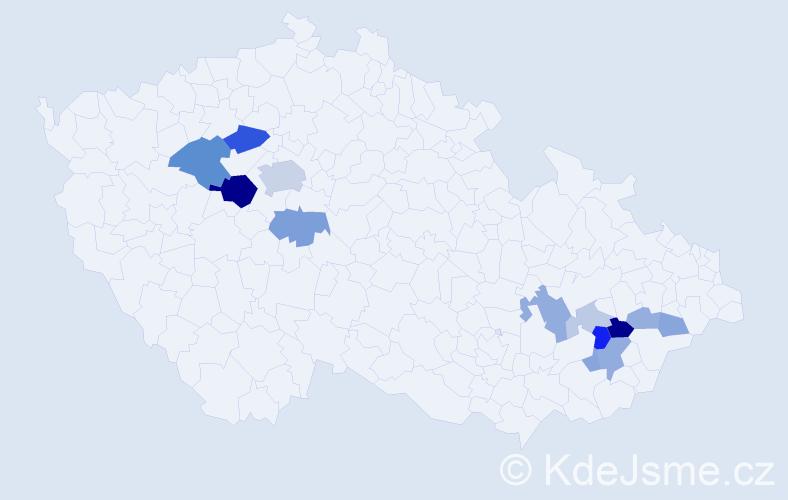 Příjmení: 'Dreksler', počet výskytů 34 v celé ČR