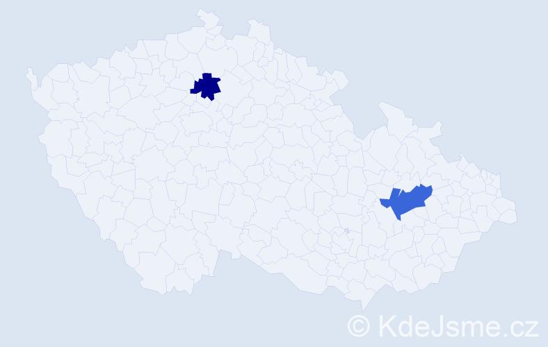 Příjmení: 'Gádociová', počet výskytů 5 v celé ČR