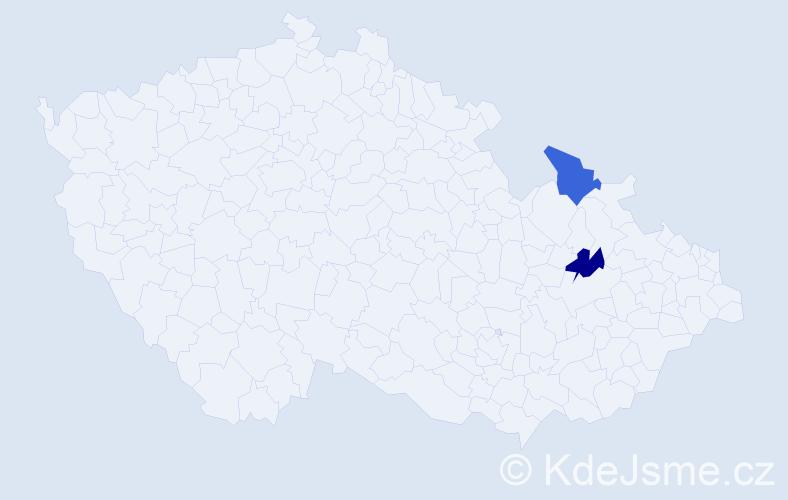 Příjmení: 'Jákimov', počet výskytů 4 v celé ČR