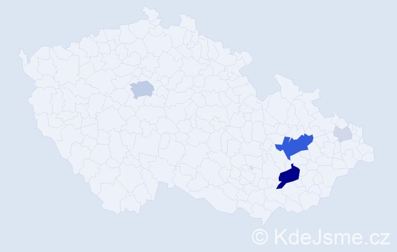 Příjmení: 'Aufart', počet výskytů 16 v celé ČR