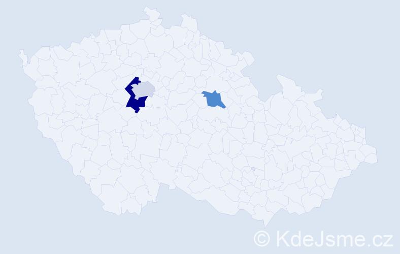 Příjmení: 'Cehula', počet výskytů 4 v celé ČR