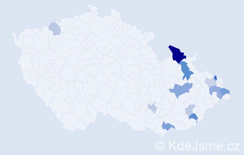Příjmení: 'Glombíček', počet výskytů 26 v celé ČR
