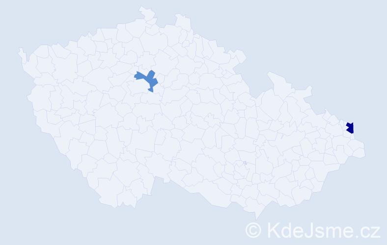 Příjmení: 'Krawczuková', počet výskytů 3 v celé ČR