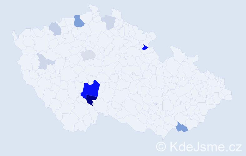 Příjmení: 'Čechtická', počet výskytů 48 v celé ČR