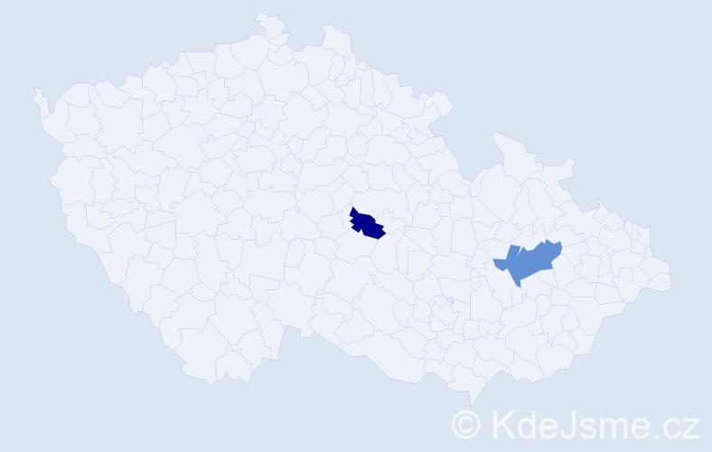 Příjmení: 'Lazorčak', počet výskytů 3 v celé ČR