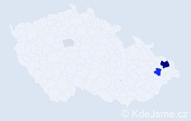 Příjmení: 'Česelská', počet výskytů 8 v celé ČR