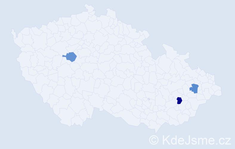 Příjmení: 'Čuvala', počet výskytů 6 v celé ČR