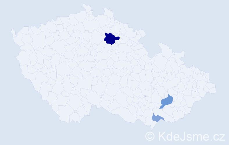 Příjmení: 'Juryca', počet výskytů 11 v celé ČR