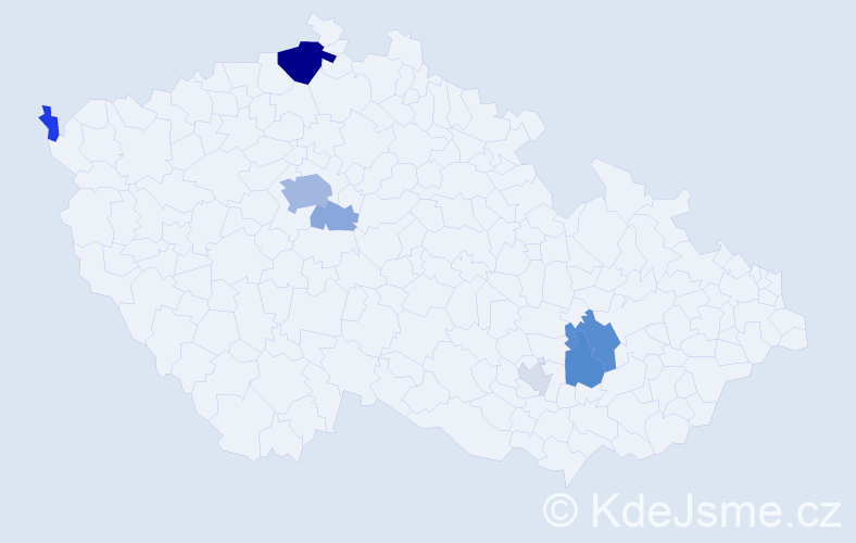 Příjmení: 'Inger', počet výskytů 23 v celé ČR