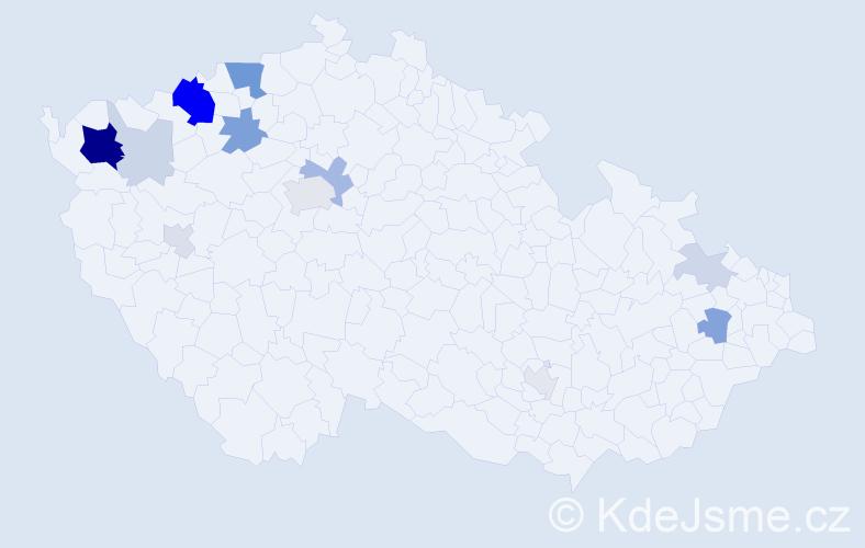 Příjmení: 'Eichhorn', počet výskytů 40 v celé ČR