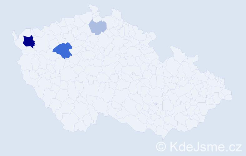 Příjmení: 'Baltiar', počet výskytů 11 v celé ČR