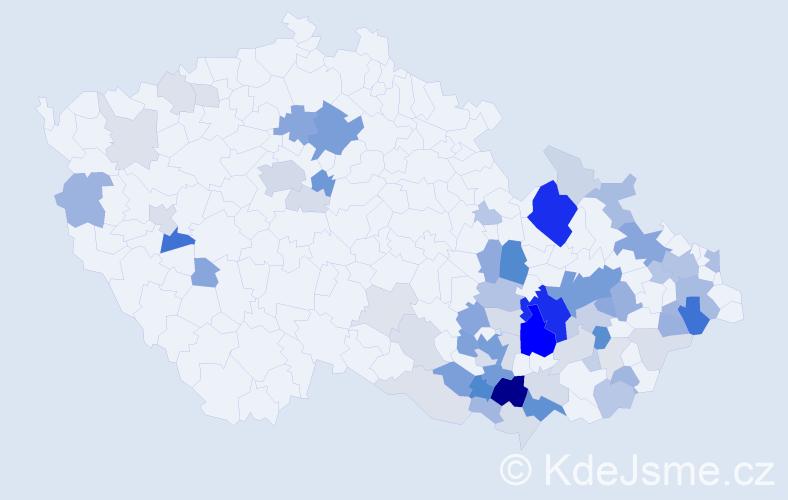 Příjmení: 'Ambrosová', počet výskytů 210 v celé ČR