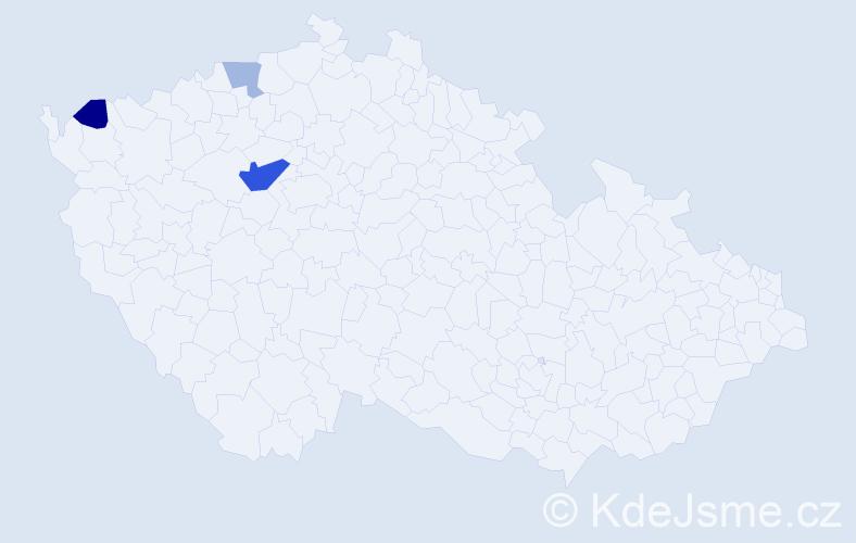 Příjmení: 'Forrai', počet výskytů 6 v celé ČR