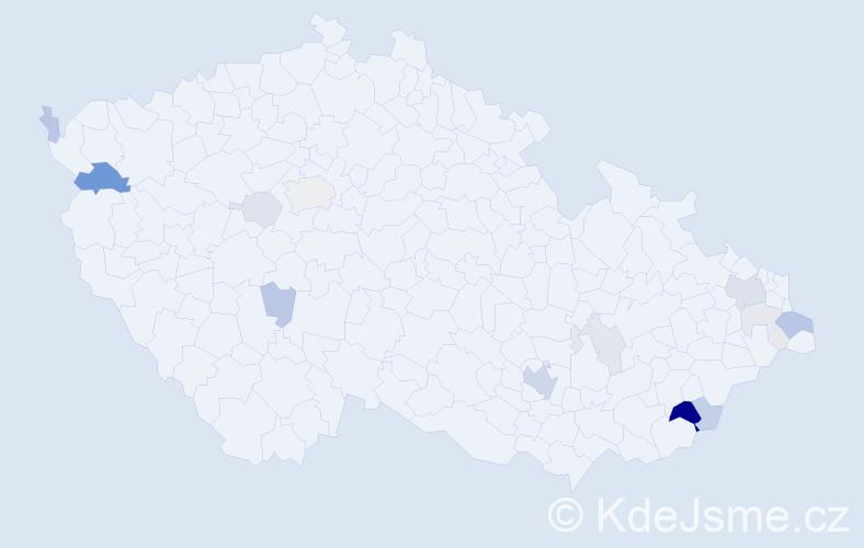 Příjmení: 'Argaláš', počet výskytů 37 v celé ČR