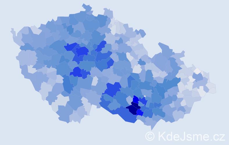 Příjmení: 'Procházková', počet výskytů 16347 v celé ČR