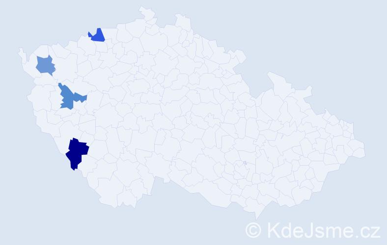 Příjmení: 'Deistler', počet výskytů 4 v celé ČR