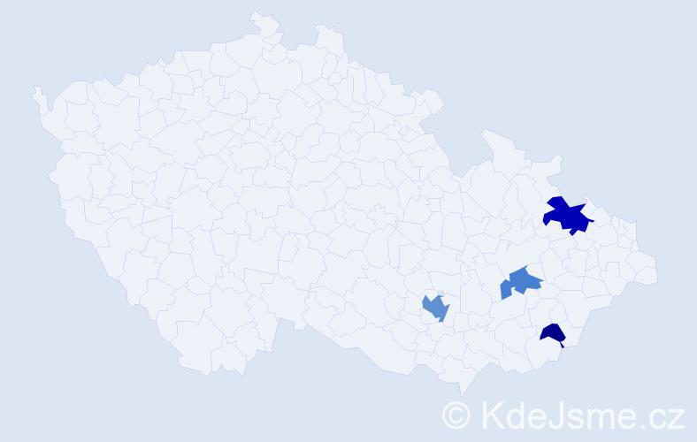Příjmení: 'Klumpnerová', počet výskytů 12 v celé ČR