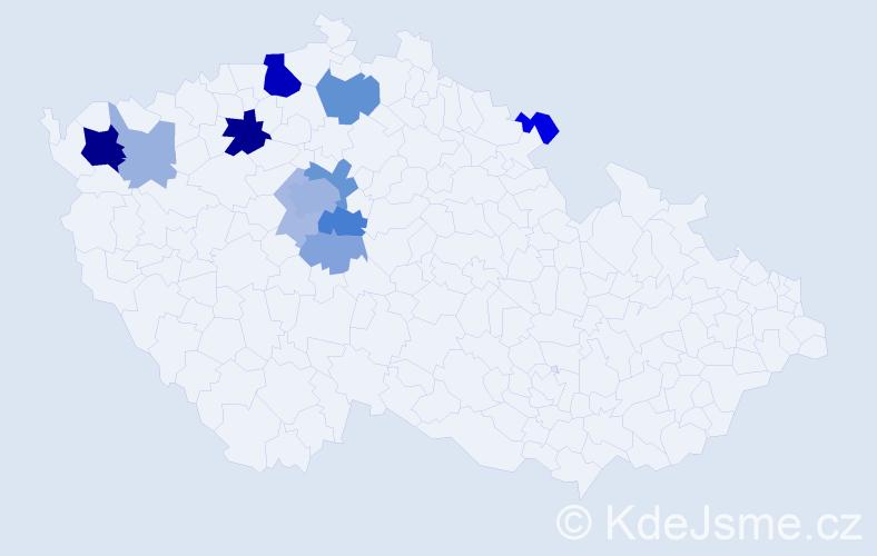 Příjmení: 'Folaufová', počet výskytů 32 v celé ČR