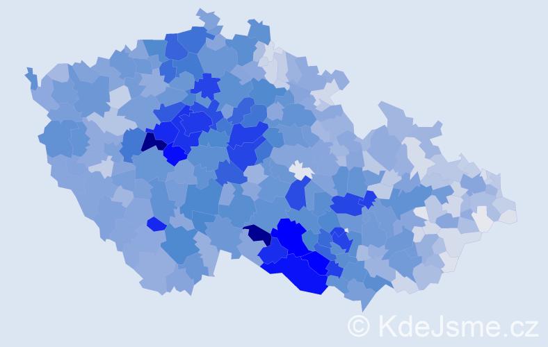 Příjmení: 'Veselá', počet výskytů 13452 v celé ČR