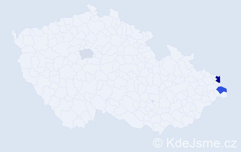 Příjmení: 'Kekeli', počet výskytů 4 v celé ČR