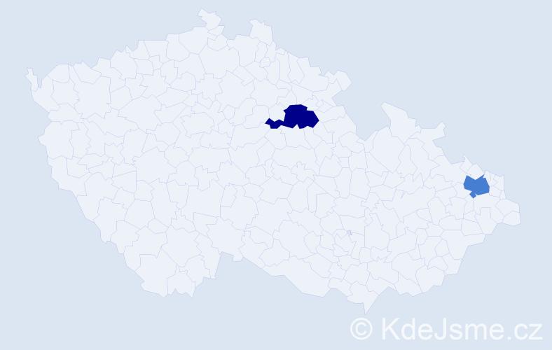 Příjmení: 'Hommesová', počet výskytů 4 v celé ČR