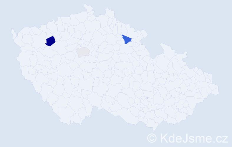 Příjmení: 'Dadlík', počet výskytů 3 v celé ČR