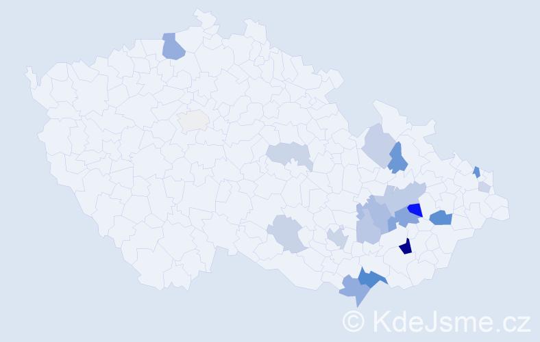 Příjmení: 'Gromus', počet výskytů 40 v celé ČR