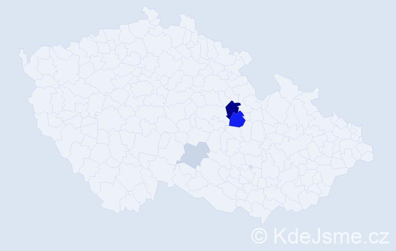 Příjmení: 'Bresto', počet výskytů 9 v celé ČR