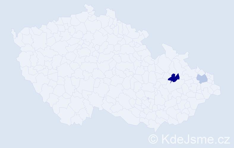 Příjmení: 'Klemišová', počet výskytů 6 v celé ČR