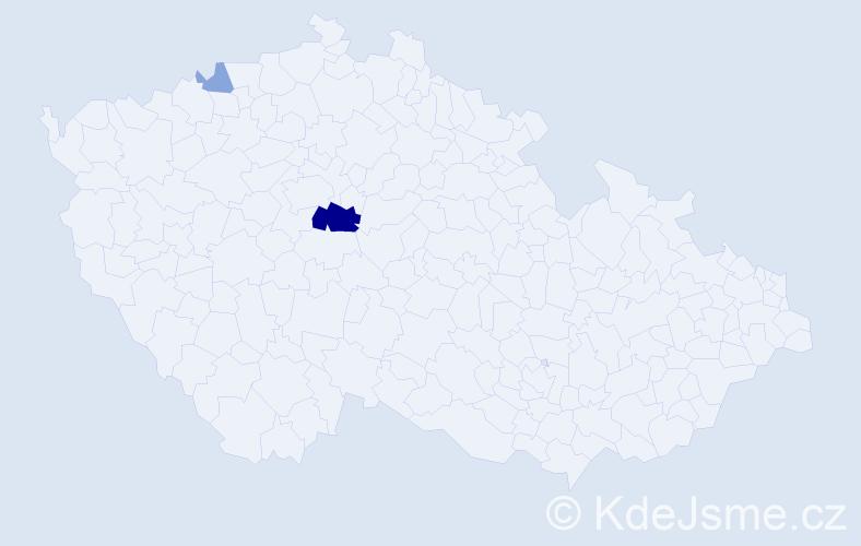 Příjmení: 'Ericsson', počet výskytů 8 v celé ČR