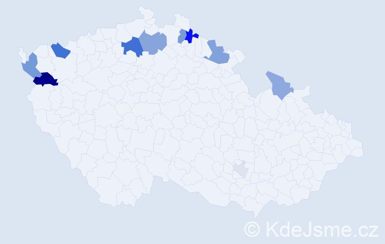 Příjmení: 'Aichlerová', počet výskytů 21 v celé ČR